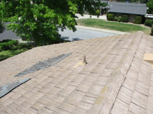 roof before repairs