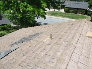 roof before repairs